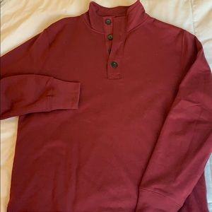 JCrew 1/4 button sweater